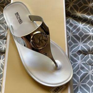 Silver Michael kors sandals!!!